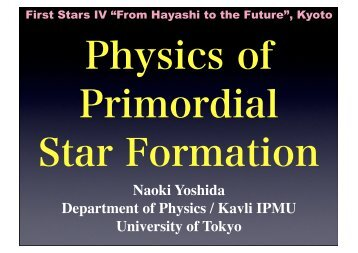 Physics of Primordial Star Formation
