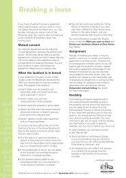 AL-breaking a lease - Tenants Union of Victoria