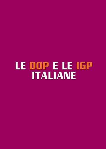 Scheda dei prodotti DOP ed IGP
