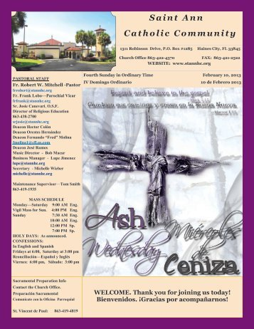 February 10, 2013 - St Ann Catholic Church
