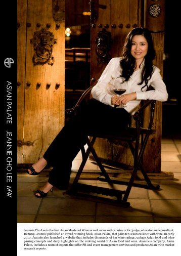 Jeannie Cho Lee is the first Asian Master of Wine as ... - Asian Palate