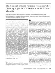 The Humoral Immune Response to Macrocyclic Chelating Agent ...