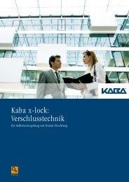 Kaba x-lock: Verschlusstechnik