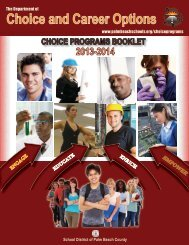 Choice and Career Options - The School District of Palm Beach ...
