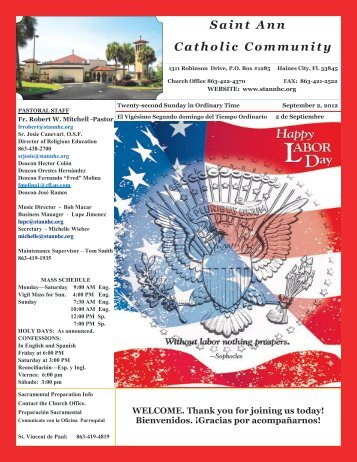 September 2, 2012 - St Ann Catholic Church
