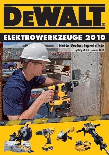 ELEKTROWERKZEUGE 2010 Netto ... - Technomag AG
