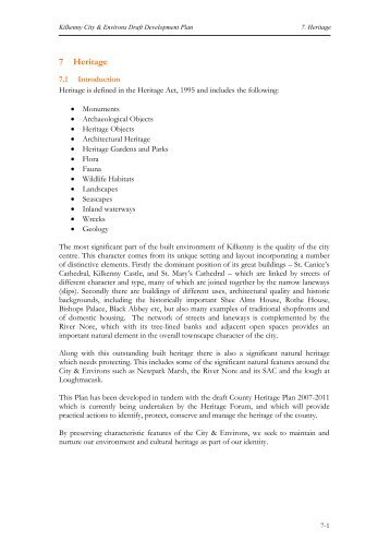 Chapter 7 Heritage - Kilkenny County Council