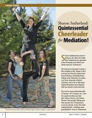 Sharon Sutherland: Quintessential Cheerleader for Mediation!