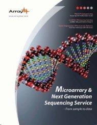 Microarray & Next Generation Sequencing Service.pdf - Arraystar