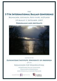 Abstracts and Program - University of Aberdeen
