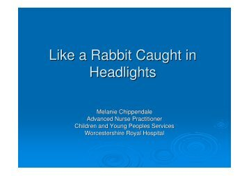 Like a Rabbit Caught in Headlights - RCN