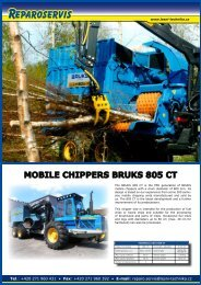 MOBILE CHIPPERS BRUKS 805 CT