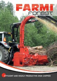 efficient and highly productive disk chipper - farmi forest corporation