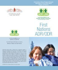 First Nations ADR/ODR in Ontario - Centre for Children and Families ...