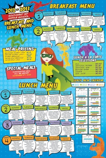 LUNCH MENU - Southwest ISD