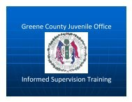 """What is """"Informed Supervision""""? - Greene County, Missouri"""