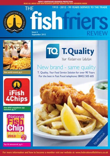 Sept 2012 - Issue 6 - National Federation of Fish Friers