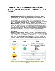Question 1: Do you agree that micro-chipping should be made a ...