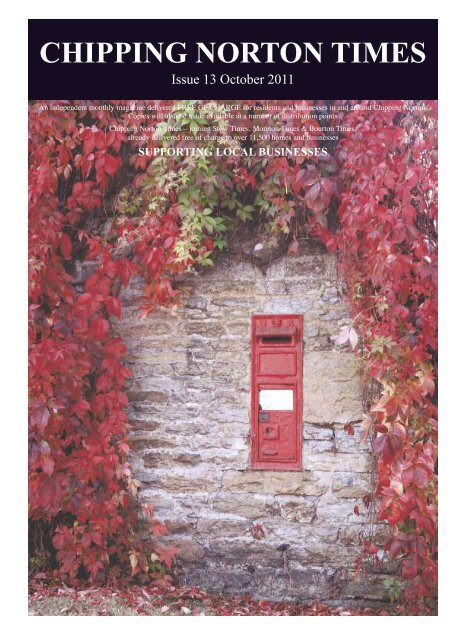Issue 13 - October 2011 (PDF - Chipping Norton Times
