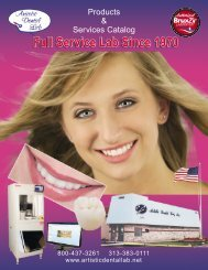 Products & Services Catalog - Artistic Dental Lab