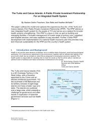 The Turks and Caicos Islands - Healthcare Redesign Group