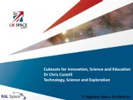 Cubesats for Innovation, Science and Education Dr Chris ... - STFC