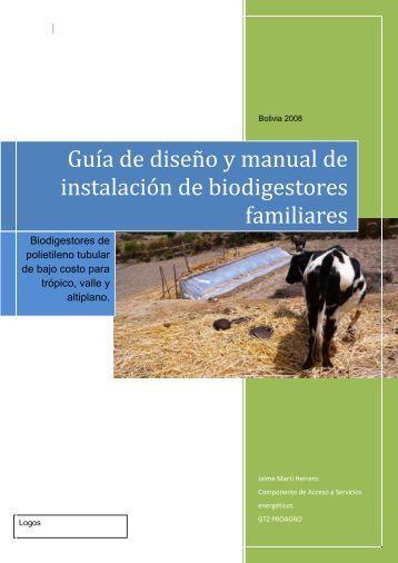 Guía de diseño y manual de instalación de ... - CEDECAP