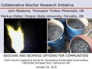 Collaborative Biochar Research Initiative - gwprojects.org