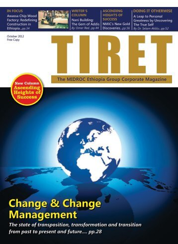 TIRET October 2012 Issue - MIDROC Ethiopia