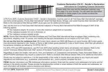 Usps customs form 2976-a
