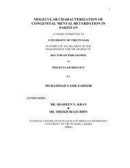 molecular characterization of congenital mental retardation in pakistan
