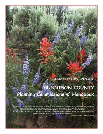 Gunnison County, CO Planning Commissioners' Handbook