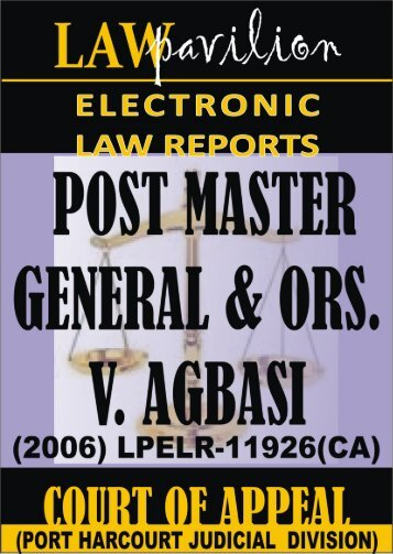 POST MASTER GENERAL & ORS. V. MR. MAC-CAJETAN AGBASI