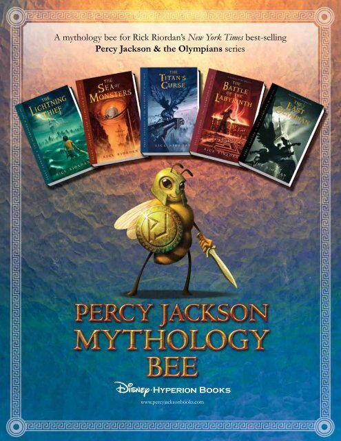 A Mythology Bee Percy Jackson And The Olympians