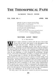 Number 4 — April 1922 - The Theosophical Society