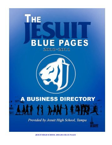 Jesuit 2010-11 Blue Pages Online - Jesuit High School