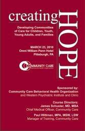 Creating - Community Care Behavioral Health