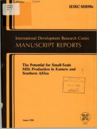 man uscri pt reports - International Development Research Centre