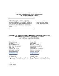 CAC/EPUC - California Public Utilities Commission - State of ...
