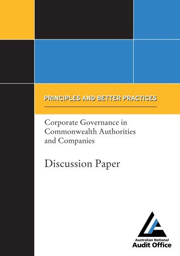 Corporate Governance in Commonwealth Authorities and Companies