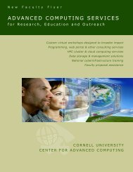 Cornell CAC New Faculty Flyer - Cornell University Centre for ...