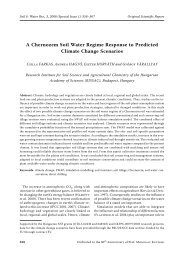 A Chernozem Soil Water Regime Response to Predicted Climate ...