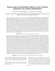 Pasture type and fertilization effects on soil chemical properties and ...
