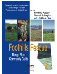 Foothills Fescue Range Plant Community Guide - Sustainable ...
