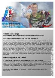 Tempo-Sport Triathlon Lounge - Tempo-Sport AG