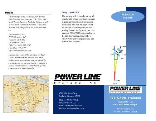 PLS-CADD Training - Power Line Systems