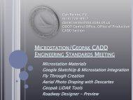 microstation/geopak cadd engineering standards meeting