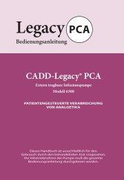 CADD-Legacy® PCA - Frank's Hospital Workshop