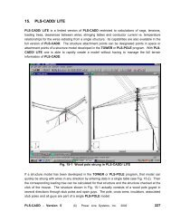 Loading Methods in TOWER and PLS-POLE - Power Line Systems