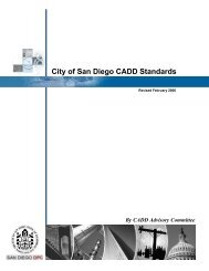 City CADD Standards Document - Full Version - City of San Diego
